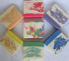 Rainbow Soap Set - handmade soap, handcrafted artisan soap, rainbow soap, hand made cold process soap, all natural soap, pretty gift soap
