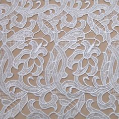 Tecido renda guipir branco - Maximus Tecidos   Loja Online