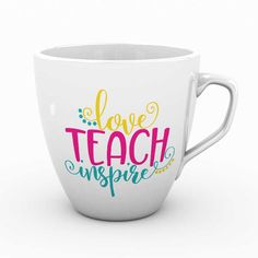 Love Teach Inspire Free SVG File for Silhouette, Cricut, and more.