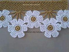 trim lace edging for kitchen curtains Filet Crochet, Crochet Diy, Crochet Chart, Crochet Home, Love Crochet, Crochet Motif, Beautiful Crochet, Irish Crochet, Crochet Designs