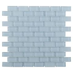 <p>Liven up any room with this brick 12in. x 12in. Pure Spa Blue Mix Brick Glass Mosaic in blue color.</p><p>This brick-shaped glass can serve as a centering visual to create a uniform look.</p><p>Incorporate a splash of color and texture to any space in need of a stylish touch with our glass tile mosaics and decorative accents. Glass decoratives are a great addition to spice up any kitchen bathroom or living room. Choose from a wide range of styles and colors.</p>