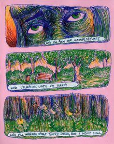 Blluish: its morning but i still feel it Arte Sketchbook, Wow Art, Art Hoe, Weird Art, Aesthetic Art, Trippy, Oeuvre D'art, Psychedelic, Art Inspo