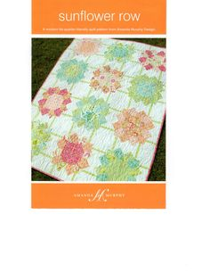 SUNFLOWER ROW PATTERN Fat Quarter Friendly Quilt by donellefritz, $10.23