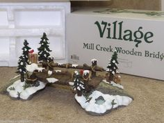 Dept 56 - Mill Creek Wooden Bridge Christmas Village Display, Christmas Villages, Villas, Holiday Decorations, Table Decorations, Mill Creek, Nautical Home, Department 56, Xmas