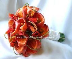 love orange calla lilies
