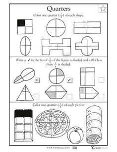 whole, halves, and fourths worksheet ~made by Mrs. Lynn