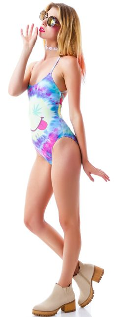 Wildfox Couture Mr. Nice Guy Wrecked One Piece   Dolls Kill