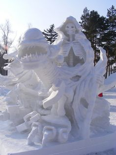 Death in snow, Harbin International Ice and Snow Sculpture Festival | Flickr - Photo Sharing!