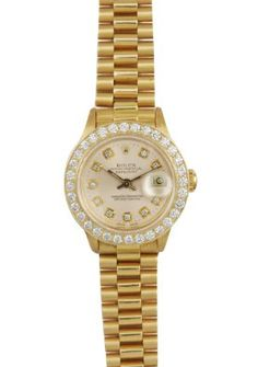 Original Womans Rolex Oyster Precision Vintage Genuine Diamonds 1.65 Ct Watch: Jewelry: Disclosure: Amazon.com