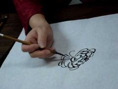 Chinese Brush Painting Class by Wendy Koay One Stroke Painting, Painting Videos, Chinese Bamboo, Chinese Brush, China Painting, Japanese Painting, Chrysanthemum, Fabric Painting, Chinese Style
