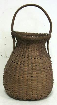 Nice early unusual shape splint basket