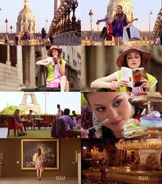Blair Waldorf in Paris. macaroons, d'Orsay, and Gossip Girl: three of my very favorite things.