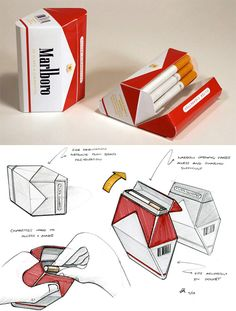 they say cigarettes physically relieve stress (wrong idea). they say cigarettes physically relieve stress (wrong idea). i'll never try for that reason, but definitely for t Sketch Design, Box Design, Design Model, Brand Packaging, Box Packaging, Branding, Packaging Design Inspiration, Industrial Design, Creative Design