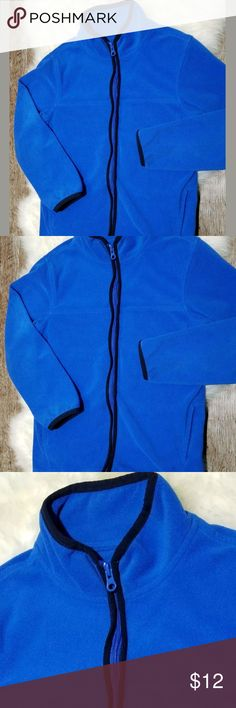 "OSH KOSH B'GOSH ROYAL BLUE BOYS FLEECE FULL ZIP 8 GUC...Perfect for chilly spring and summer nights camping, hiking, etc.   This fleece jacket by popular Osh Kosh features super soft fleece, 100% polyester, solid royal blue with black trim; double pocket front, full zip. Size 8   Shoulder to Shoulder:  12.5""  Armpit to Armpit:  15.5""  Shoulder to Hem Length:  19.5""   ALL ITEMS FROM A SMOKE FREE HOME  #A-T-52 OshKosh B'gosh Jackets & Coats"
