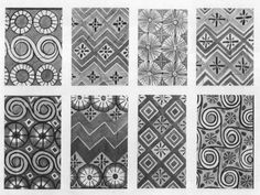 """in """"Egyptian Wall Paintings"""", Celling Patterns restored 30.4.102 Na.deGD, 1921, p.131; Book in The Metropolitan Museum of Art http://www.metmuseum.org/research/metpublications/Egyptian_Wall_Paintings_The_Metropolitan_Museum_of_Arts_Collection_of_Facsimiles"""