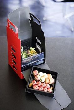 Packaging of the World: Creative Package Design Archive and Gallery: Sticks 'n Sushi Carton