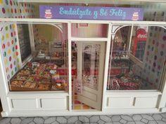 Frontal Pasteleria miniatura bakery dollhouse cupcakes cakes macaroon dollhouse