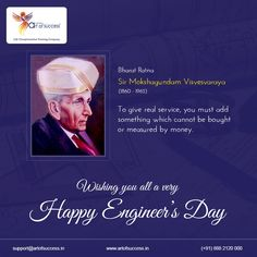 Engineer's Day is celebrated every year to commemorate the birth anniversary of the legendary engineer, Sir M. Visvesvaraya, who was internationally recognized for his genious in harnessing water resources.  #MotivationalSpeaker #EngineerDay Engineer Sir M Visvesvaraya Engineer Engineer's Day #thursday #thursdate #throwbackthursday #thirstythursday #thankfulthursday #travelthursday Thursday Thursdays #engineering #engineers #EngineersWeek 3 Idiots