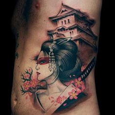 japanese-Geisha-Tattoo-man+stomach.jpg 800×800 pixels