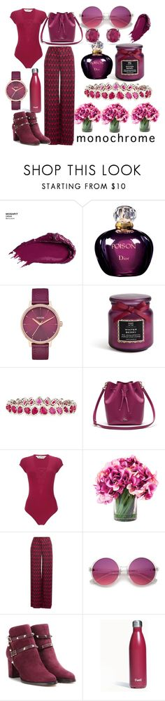"""1 color"" by hanlonsg ❤ liked on Polyvore featuring Urban Decay, Christian Dior, Nixon, Diana M. Jewels, Lacoste, Miss Selfridge, Diane Von Furstenberg, Valentino, S'well and Kabella Jewelry"