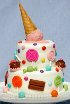 fondant taart met snoep - Google zoeken