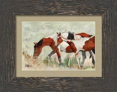 Painted Ponies Framed Print By Michele Ross