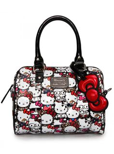"""Hello Kitty All Stars"" Mini City Handbag by Loungefly (Multi) #InkedShop #HelloKitty #handbag #bag #style #fashion #cute"