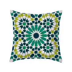 Bursting with bold energy, this perfect pillow blends together lively Latin style and cool Moroccan mosaic inspiration. Dress up your sofa with its jeweled shades of blue and green. Choose either pillo...  Find the Joya Verde Pillow, as seen in the Discover Panama City Collection at http://dotandbo.com/collections/discover-panama-city?utm_source=pinterest&utm_medium=organic&db_sku=104363
