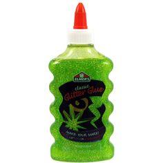 Elmer's Liquid Glitter Glue, Washable, Green, 6 Ounces, 1 Count - Great For Making Slime Elmer's Glitter Glue, Glitter Crafts, Glitter Slime, Green Glitter, Glue Slime, Glitter Letters, Glitter Dress, Kids Art Storage, Kids Craft Supplies
