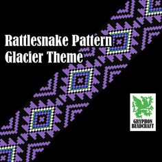 Hey, I found this really awesome Etsy listing at https://www.etsy.com/listing/210795247/loom-beading-pattern-rattlesnake-glacier