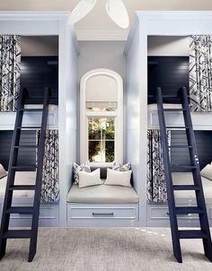Image result for custom bunk beds for grandchildrens in front of large window