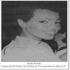 """Aninha Portela. Coluna do Gil """"Gente"""" do A Crítica de 27 de dezembro de 1981."""