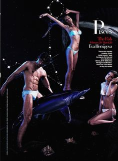 """It's All in the Stars"": Karl Lagerfeld Shoots Fashion Designers and Models by Zodiac Sign for US Harper's Bazaar Pisces"