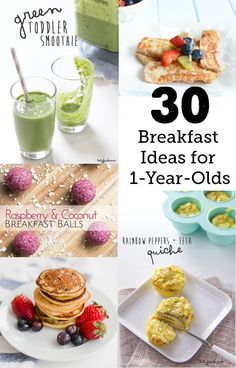 30 Breakfast Ideas for a 1-Year-Old: Perfect for getting out of the eggs, bread and fruit rut! #babyfood #babymeals #toddlerfood #toddlermeals #toddlerbreakfast