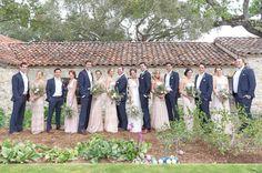 Ashley's wedding - champagne bridesmaids
