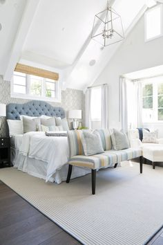 A beautiful bedroom: http://www.stylemepretty.com/living/2015/09/14/classic-southern-california-home-tour/ | Design: Brooke Wagner - http://brookewagnerdesign.com/