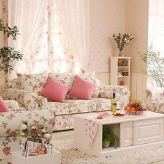 I love super dainty and feminine rooms