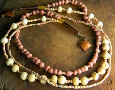 Pink Cheyenne Trade Bead Necklace  - ChrysalisToo.