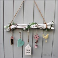 """White + branches + """"SPRING"""" + window decoration + by + Crafts + & + Deco + on + DaWa … – Wall Products Diy Home Crafts, Decor Crafts, Crafts For Kids, Arts And Crafts, Wooden Decor, Wooden Crafts, Tree Branch Decor, Driftwood Crafts, Home And Deco"""