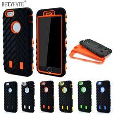 Coque para iphone 6 case neumático de doble capa para apple iphone 6s heavy duty armor case tpu plástico duro y silicona para iphone6s cubierta