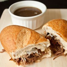 Slow Cooker French Dip Sandwhiches