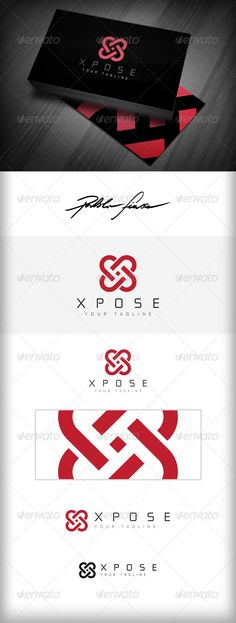 Letter X Logo - Heart Shaped Interlocking X Logo  #GraphicRiver         Unixysys, Circular Loops Logo – Connected Rings Logo , is adoptible for business internet startup, computing business, apps, game designer and developer, web hosting and network sytemas. Fashion Logo, or wine