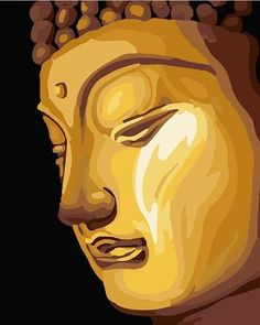 Figure of Buddha DIY Digital Oil Painting By Number Artwork Picture Wall Decoration Perfect Christmas Birthday Gift Acrylic Painting Canvas, Canvas Artwork, Diy Painting, Wall Decor Pictures, Artwork Pictures, Golden Buddha, Relaxing Art, Paint By Number Kits, Paint Set