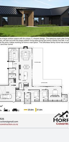 New House Plans, Dream House Plans, House Floor Plans, Modern Floor Plans, Modern House Plans, Bungalow House Design, Modern House Design, The Sims 2, One Level Homes
