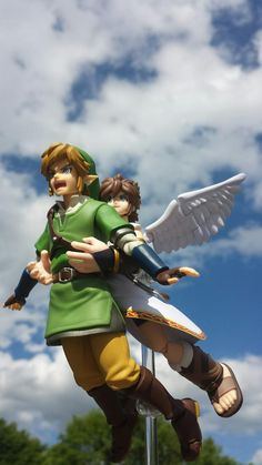 Figma Link & Pit figures arises ^^^ Le me: *plays Titanic song in the background* Hehehehehe!!! XD