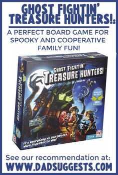 Ghost Fightin' Treasure Hunters is a fantastic, spooky family board game from Mattel that reminds us of playing Luigi's Mansion . It's one of the best Halloween board games of all time, and the quintessential ghost game! Board Game Themes, Board Games For Kids, Family Board Games, Games To Play, Spooky Games, Ghost Games, Halloween Board Game, Halloween Games, Bee Cards