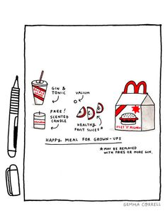 illustration by Gemma Correll - I thought the free scented candle was too funny!