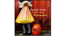 Tutorial: Candy cane pillowcase trick or treat bag...what a cute idea!