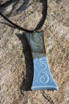 Tri Colored Ceramic Pendant