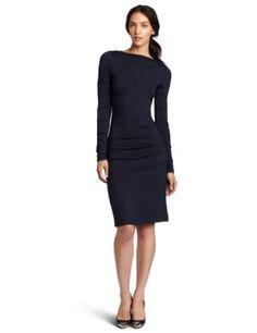 fb302e9943c Nicole Miller Women s Long Sleeve Tucked Dress